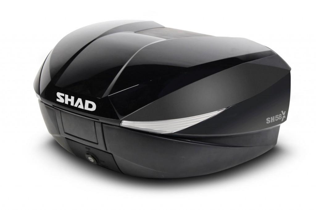 4a3af31e7a6c7 Topcase - s farebným krytom SH58X Metalická čierna - Farebné kryty kufrov  SHAD - eSHOP - Slovakia - Motopoint SK, s.r.o.